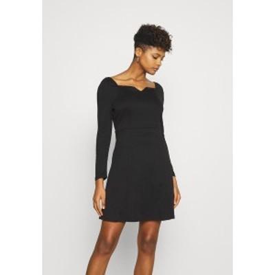 ヴィラ レディース ワンピース トップス VITINNY SWEETHEART NECK DRESS - Shift dress - black black