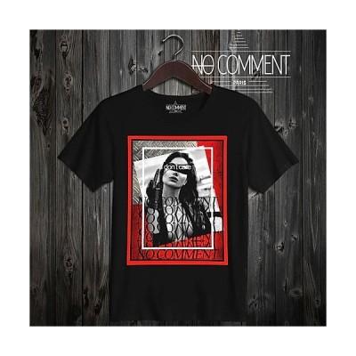 NO COMMENT PARIS I don't care T-shirt NCP45 Black ノーコメント パリ Tシャツ ブラック