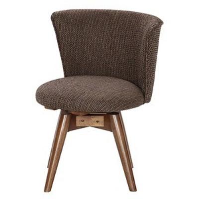 モダン調 ダイニングチェア/食卓椅子 【ブラウン/ファブリック】 幅50cm 木製フレーム 『クラム』【代引不可】
