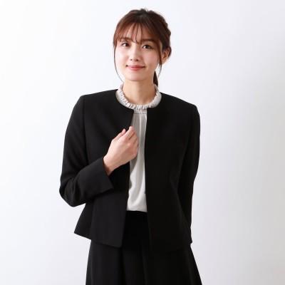 アマカ AMACA 【Precious Collection】MISSIONノーカラージャケット (ブラック)