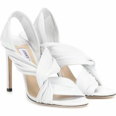 ジミー チュウ Jimmy Choo レディース サンダル・ミュール シューズ・靴 lalia 100 leather sandals white