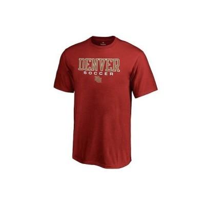 大学 NCAA ファナティクス ブランド Fanatics Branded Denver Pioneers Youth Crimson True Sport Soccer T-Shirt