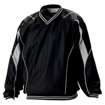ゼット 野球 ソフト 長袖Vネックジャンパー 16SS ブラック ウインドウェア(bov410-1900)