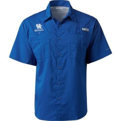 コロンビア シャツ トップス メンズ Columbia Sportswear Men's University of Kentucky Collegiate Tamiami Short Sleeve Button Down Shirt Azul