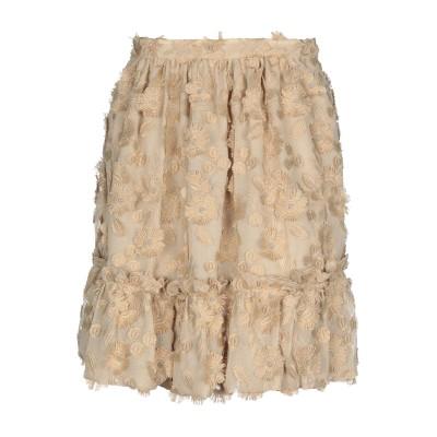BOUTIQUE MOSCHINO ひざ丈スカート サンド 40 ポリエステル 100% ひざ丈スカート