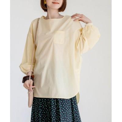 coen レディース パフ袖ポケットTシャツブラウス トップス シャツ/ブラウス イエロー