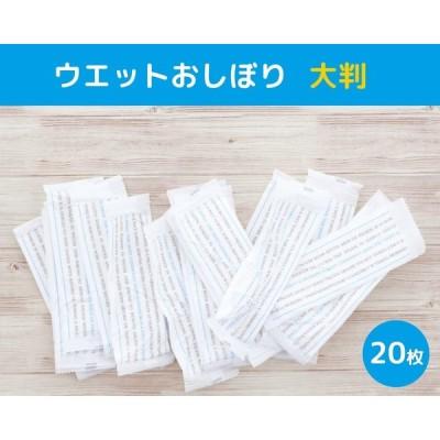 大和物産 おしぼりセット ホワイト 20×25cm ウエット おしぼり大判 20枚入