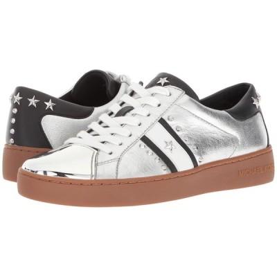 MICHAEL KORS マイケルコース レディース シューズ Frankie Stripe Sneaker シルバー サイズ:7M