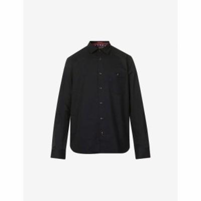 テッドベーカー TED BAKER メンズ シャツ トップス Workwear regular-fit cotton shirt NAVY