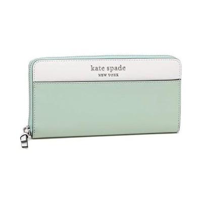 [ケイトスペード]長財布 アウトレット レディース KATE SPADE WLRU6014 307 ライトブルー [並行輸入品]