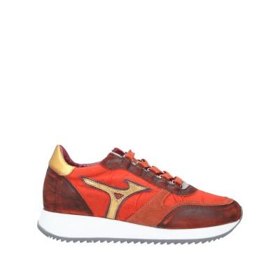 ミズノ MIZUNO スニーカー&テニスシューズ(ローカット) 赤茶色 6.5 革 / 紡績繊維 スニーカー&テニスシューズ(ローカット)
