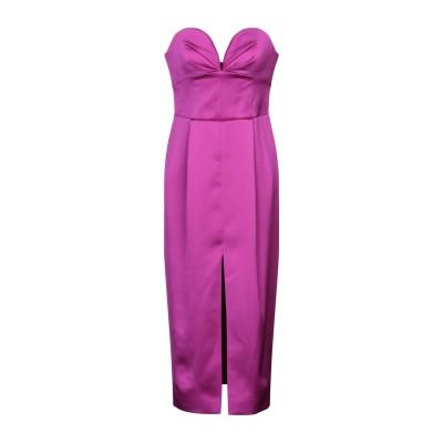 RASARIO 7分丈ワンピース・ドレス パープル 46 ポリエステル 89% / シルク 6% / ポリウレタン 5% 7分丈ワンピース・ドレス