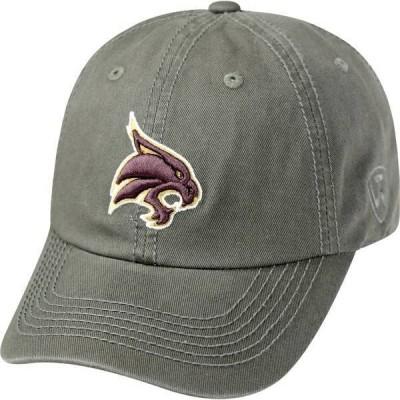 トップオブザワールド メンズ 帽子 アクセサリー Top of the World Men's Texas State Bobcats Grey Crew Washed Cotton Adjustable Hat