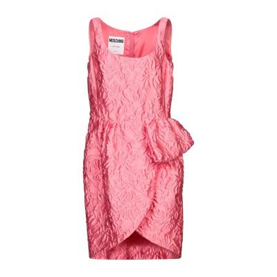 モスキーノ MOSCHINO ミニワンピース&ドレス ピンク 44 ポリエステル 84% / シルク 10% / ナイロン 6% ミニワンピース&ド