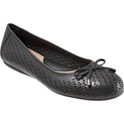 ソフトウォーク SoftWalk レディース スリッポン・フラット シューズ・靴 Napa Flat Black Laser Leather