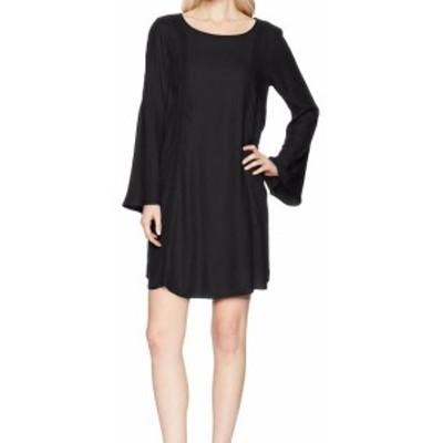 Roxy ロキシー ファッション ドレス Roxy NEW Black Anthracite Womens Small S Bell-Sleeve Shift Dress
