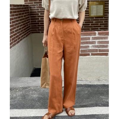 chuclla / 【chuclla】【2021/SSリネン素材追加】Semi wide color slacks sb-1 sb-4 chw869 WOMEN パンツ > スラックス