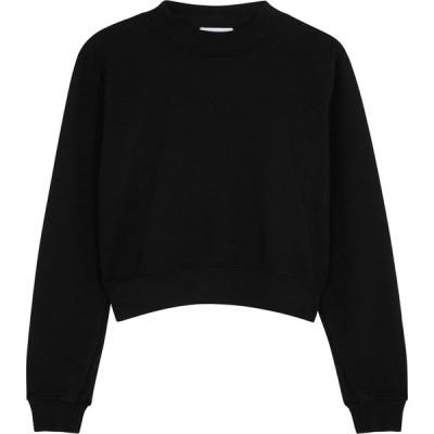 コットンシチズン Cotton Citizen レディース スウェット・トレーナー トップス Milan Black Cotton Sweatshirt Black