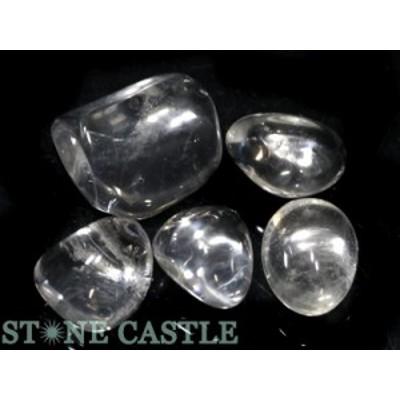 ☆置石一点物☆【天然石 置き石】水晶 (EX) 握り石 (5個セット) No.24