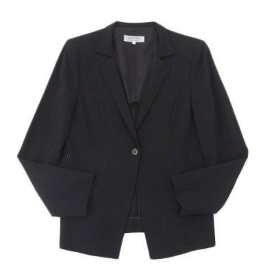美品 ランバン LANVIN ウール ジャケット レディース 黒 size38 A04111