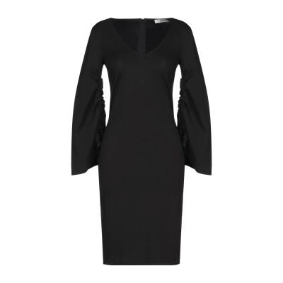SUOLI ミニワンピース&ドレス ブラック 38 レーヨン 69% / ナイロン 25% / ポリウレタン 6% ミニワンピース&ドレス