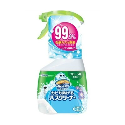 【お一人様1個限り特価】スクラビングバブル カビも防げるバスクリーナー フローラルの香り 本体 400ml
