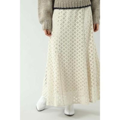 ROSE BUD / ローズ バッド 透かしナロースカート