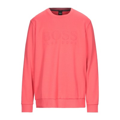 BOSS HUGO BOSS スウェットシャツ コーラル 3XL コットン 94% / ナイロン 6% / ポリウレタン スウェットシャツ