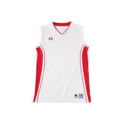 (チャンピオン)Champion ウィメンズゲームシャツ CBLR2202 ホワイト×スカーレット XXL