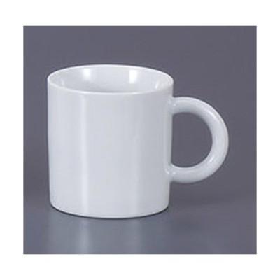 マグカップ 白丸手マグ [10 x 7 x 7.5cm 200cc]  料亭 旅館 和食器 飲食店 業務用
