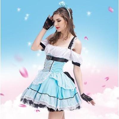 ハロウィン 衣装 メイド服 コスプレ 不思議の国のアリス アリス コスチューム 仮装 メイド 服 女性 ロングドレス コスプレ衣装 パーティ