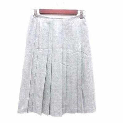 【中古】アナイ ANAYI プリーツスカート ミモレ ロング ウール 36 グレー /YK レディース