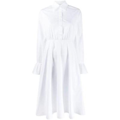 バレンチノ ワンピース デイドレス レディース Valentino flared midi shirt dress White