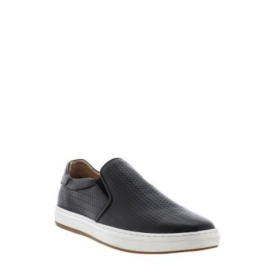 ザンザラ メンズ スニーカー シューズ Aachen Leather Slip-On Sneaker BLACK