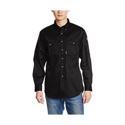 [フォーキャスト] ワークシャツ 長袖 カジュアル 作業着 65968 メンズ ブラック LL