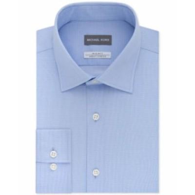 マイケルコース メンズ シャツ トップス Men's Slim-Fit Non-Iron Airsoft Stretch Performance Solid Dress Shirt Light Blue