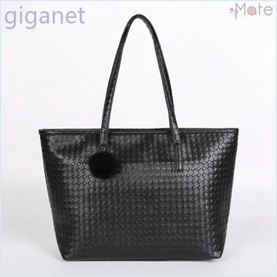 トートバッグマザーズバッグレディースバッグバッグ鞄ハンドバッグ大容量A4合成皮革ショッピング通勤編込み