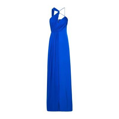 クシュニー・エ・オクス CUSHNIE ロングワンピース&ドレス ブライトブルー 8 シルク 100% ロングワンピース&ドレス
