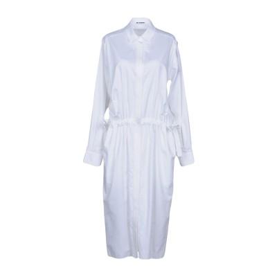 ジル サンダー JIL SANDER 7分丈ワンピース・ドレス ホワイト 40 コットン 100% 7分丈ワンピース・ドレス