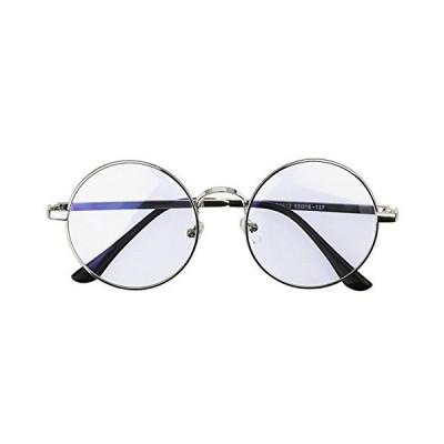pcメガネ 度無し ユニセックス レディース メンズ 顔つき修飾 パソコン用メガネ おしゃれ メガネ 丸 伊達メガネ ブルーライトカット 輻