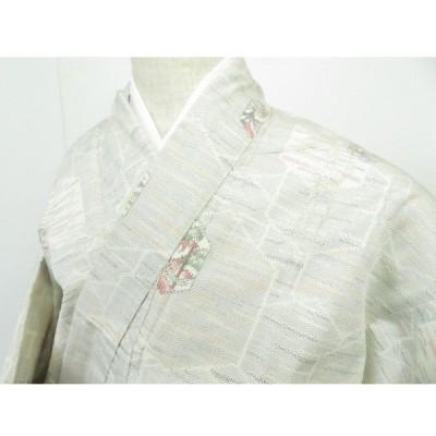 宗sou 紬 Sサイズ 亀甲に樹木文 着物【リサイクル】【着】
