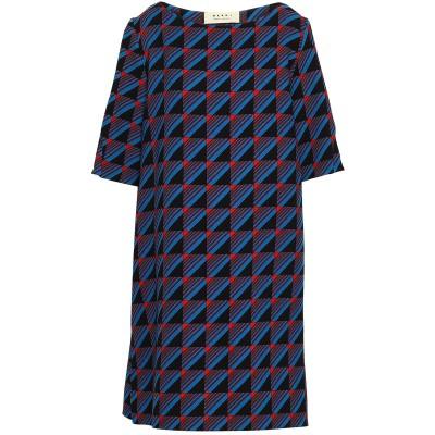 マルニ MARNI ミニワンピース&ドレス ブルー 42 バージンウール 100% ミニワンピース&ドレス