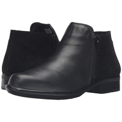 Naot Helm レディース ブーツ Black Raven Leather/Black Suede