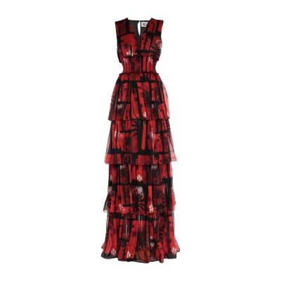 ファウスト プリージ FAUSTO PUGLISI ロングワンピース&ドレス レッド 42 シルク 100% ロングワンピース&ドレス