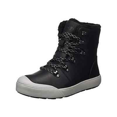 KEEN Women's Elena Hiking Boot, Black/Drizzle, 8 M (Medium) US