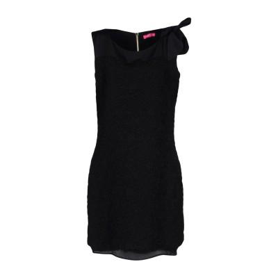 ÉCLÀ ミニワンピース&ドレス ブラック 46 ポリエステル 69% / ナイロン 28% / ポリウレタン 3% ミニワンピース&ドレス