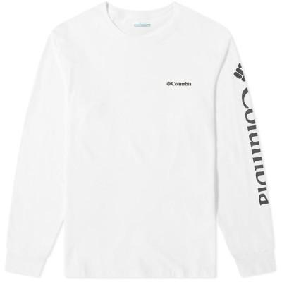 コロンビア Columbia メンズ 長袖Tシャツ トップス Long Sleeve North Cascades Tee White/Black