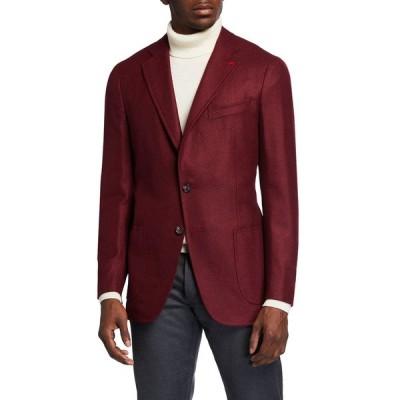 イザイア メンズ ジャケット・ブルゾン アウター Men's Cashmere-Silk Donegal Blazer