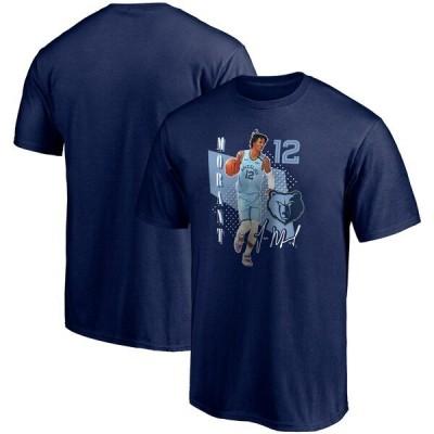 ジャ・モラント グリズリーズ NBA Tシャツ メンズ 半袖 Pick & Roll T-Shirt ネイビー