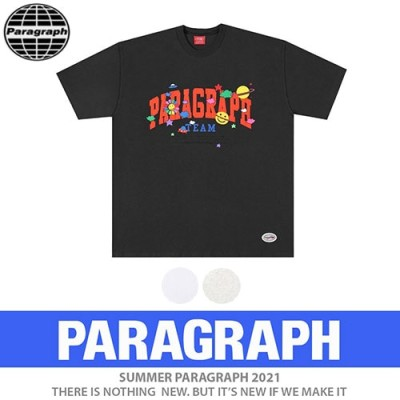 【送料無料】●正規品●[PARAGRAPH/パラグラフ] スマイルハッピーTシャツ/半袖/オリジナル (3color)